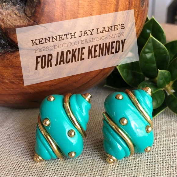 Jackie Kennedy KJL Reproduction Shell Earrings